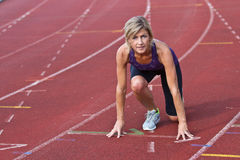 Woman portrait doing sport Royalty Free Stock Photography