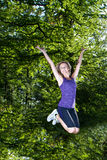 Woman portrait doing sport Royalty Free Stock Images