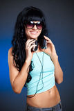 Woman portrait with eyelasses Stock Photo