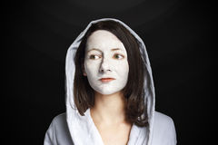 Woman Portrait facemask Stock Image