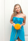 Woman portrait with flower Stock Image