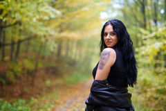 Woman portrait in the forest Royalty Free Stock Images