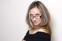 Woman portrait with glasses Royalty Free Stock Photo