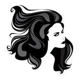 woman portrait with great hair Stock Photography