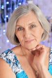 Woman portrait on illuminated Royalty Free Stock Photos