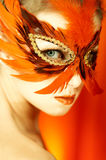Woman Portrait In Mask Royalty Free Stock Photography