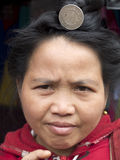 Woman portrait in a laotian tribe. Royalty Free Stock Photos