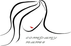 Woman portrait logo Stock Photo