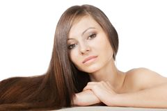 Woman portrait with long hair Royalty Free Stock Images