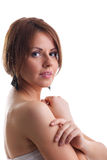 Woman portrait look at you relax Royalty Free Stock Photo