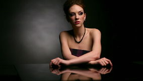 Woman portrait stock video