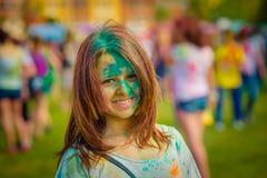 Free Woman Portrait On Holi Festive Stock Photos - 110404373