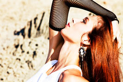 Woman portrait outdoor Royalty Free Stock Image