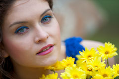 Woman portrait outdoor Stock Photography