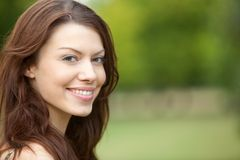 Woman portrait outdoors Royalty Free Stock Images