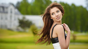 Woman portrait  outdoors Royalty Free Stock Image
