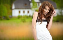 Woman portrait  outdoors Stock Images