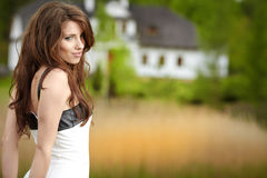 Woman portrait  outdoors Stock Photography