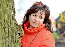 Woman portrait in park Stock Photography