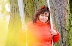 Woman portrait in park Royalty Free Stock Photos