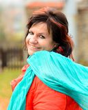 Woman portrait in park Royalty Free Stock Photo