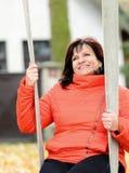 Woman portrait in park Stock Images
