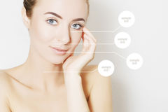 Woman portrait,skin revitalizing concept Stock Images