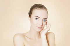 Woman portrait,skin revitalizing concept Royalty Free Stock Photos