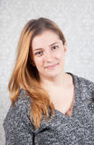 Woman portrait studio Royalty Free Stock Photography