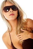 Woman portrait - sunglasses Stock Photos