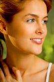 Woman portrait taken outdoors Royalty Free Stock Photos