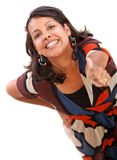 Woman portrait with thumbs-up Royalty Free Stock Image