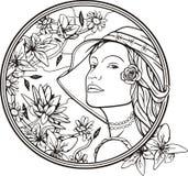 Woman portrait, vector Stock Photo