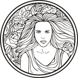 Woman portrait, vector Royalty Free Stock Photography