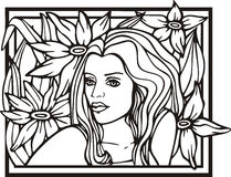 Woman portrait, vector Royalty Free Stock Photo