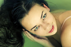 Woman portrait water Royalty Free Stock Photography