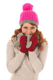 Woman portrait winter fashion Royalty Free Stock Photo