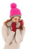 Woman portrait winter fashion Royalty Free Stock Image
