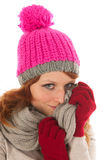 Woman portrait winter fashion Royalty Free Stock Images