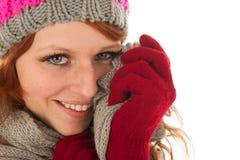 Woman portrait winter fashion Stock Photos