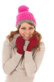 Woman portrait winter fashion Stock Photography