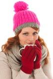 Woman portrait winter fashion Stock Images