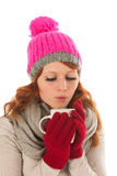Woman portrait winter fashion Stock Photo