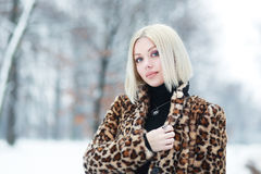 Woman portrait in winter Royalty Free Stock Photo