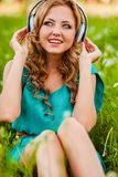 Woman portraits with headphones Stock Photography