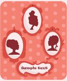 Woman portraits silhouette. With place for your text,  illustration Royalty Free Stock Photos