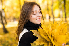 Woman portret in autumn Stock Photography