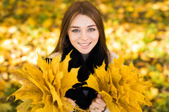 Woman portret in autumn Royalty Free Stock Images