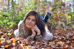 Woman portret in the nature Royalty Free Stock Photo