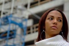 Woman Posing. Female Model Posing For The Camera Stock Photo